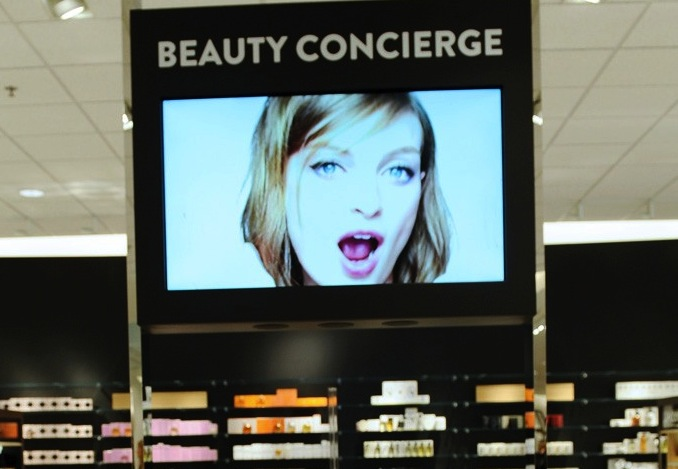 Nordstrom's new beauty concierge.  Image by Stefanie Keenan for WWD.