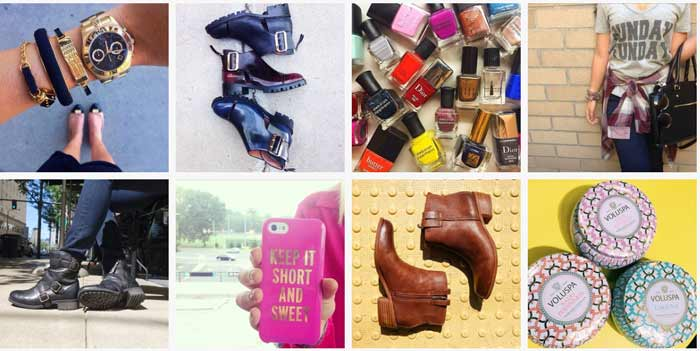 Nordstrom's Instagram Shop page.