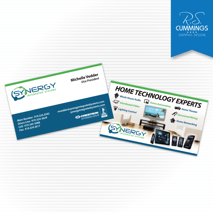 Print graphic design high point nc greensboro nc rs business card for high end home automation company reheart Images