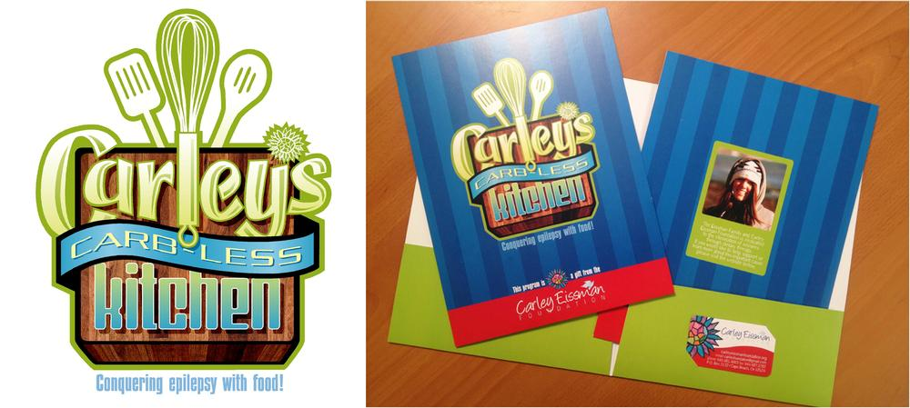 Carley's Kitchen Logo, Folder and Business Card