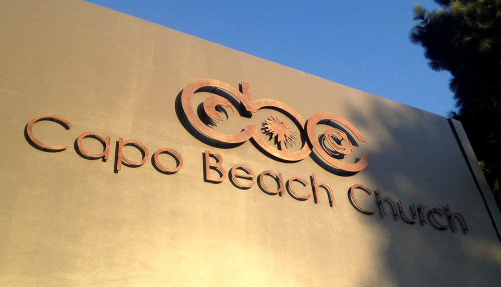 Capo Beach Church • Lasered Metal Signage Installation