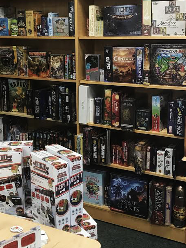 A small sample of the product offerings in store at Total Escape Games in Broomfield, Colorado.