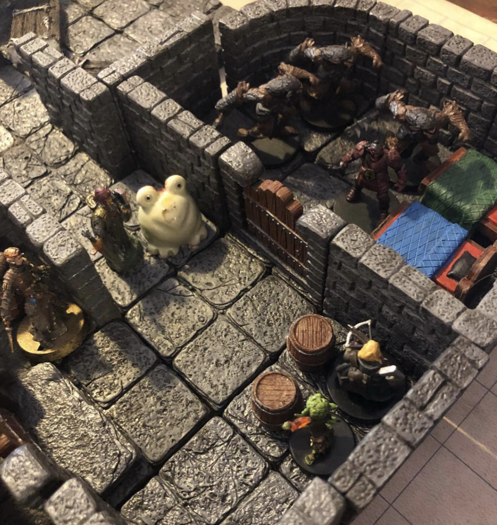 A friendly game of  Dungeons & Dragons  by Wizards of the Coast.