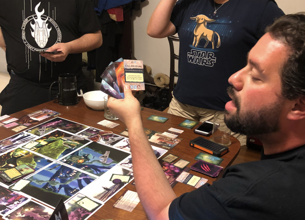Playing  Thornwatch  by Loneshark Games with my friends.