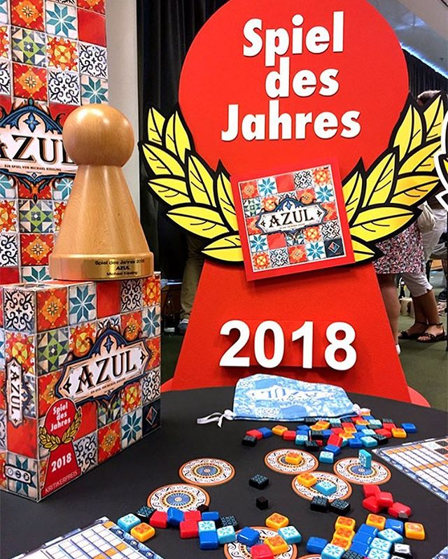 We are still not over the big Spiel des Jahres win for Azul and Next Move Games. Who's even MORE excited for Stained Glass of Sintra!? . #azul #nextmovegames #gaming #gamer #game #games #spieldesjahres #award #stainedglassofsintra #contest #congratulations #bgg #boargame #boardgames #boardgaming #boardgamegeek