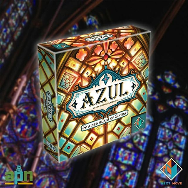You've helped the king decorate his Palace of Evora in Portugal with elaborate azulejo wall tiles. Now the king is seeking the world's greatest stained-glass artisans to adorn the chapel windows of the Palace of Sintra. Welcome to Azul: Stained Glass of Sintra!⠀ ⠀ A stand-alone sequel to Next Move Games' 2017 monster hit and award-winning Azul, Stained Glass of Sintra features similar tile-drafting game play found within its predecessor, while adding variable double-sided window panel player boards, a beautiful tower for discarded glass panes, and more. Watch for it to arrive at your FLGS this October!⠀ ⠀ #azul #stainedglassofsintra #stainedglass #palace #chapel #boardgames #boardgaming #bgg #boardgamegeek #tabletop #tabletopgame #tabletopgames #tabletopgaming #gamer #game #gaming #games #newrelease #nextmovegames