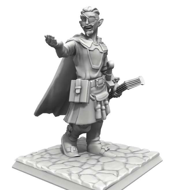 Sydretorian the Bard, courtesy of HeroForge.com!