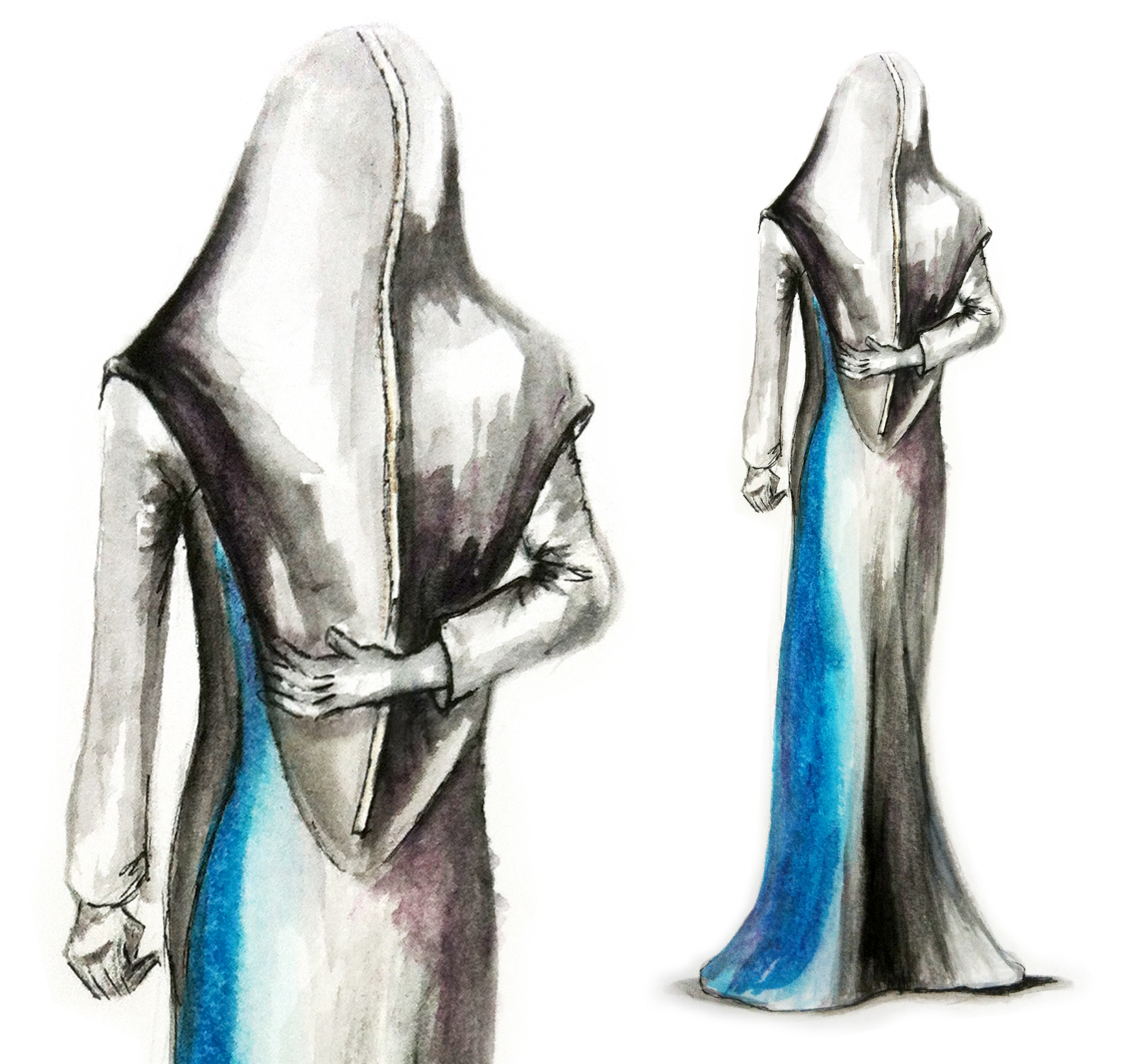 Holographic Avatar Gown