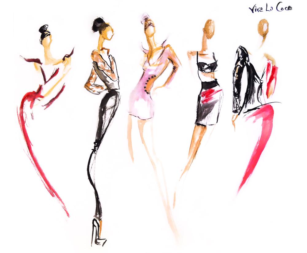 Fashion Watercolor Illustration Workshop With Hello Claire Registration Covington Eventbrite