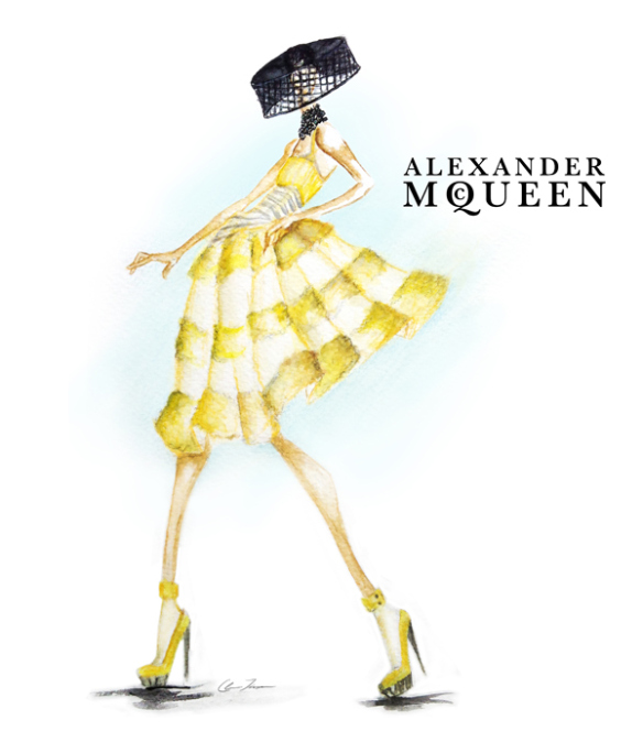 Alexander mcqueen fashion sketches