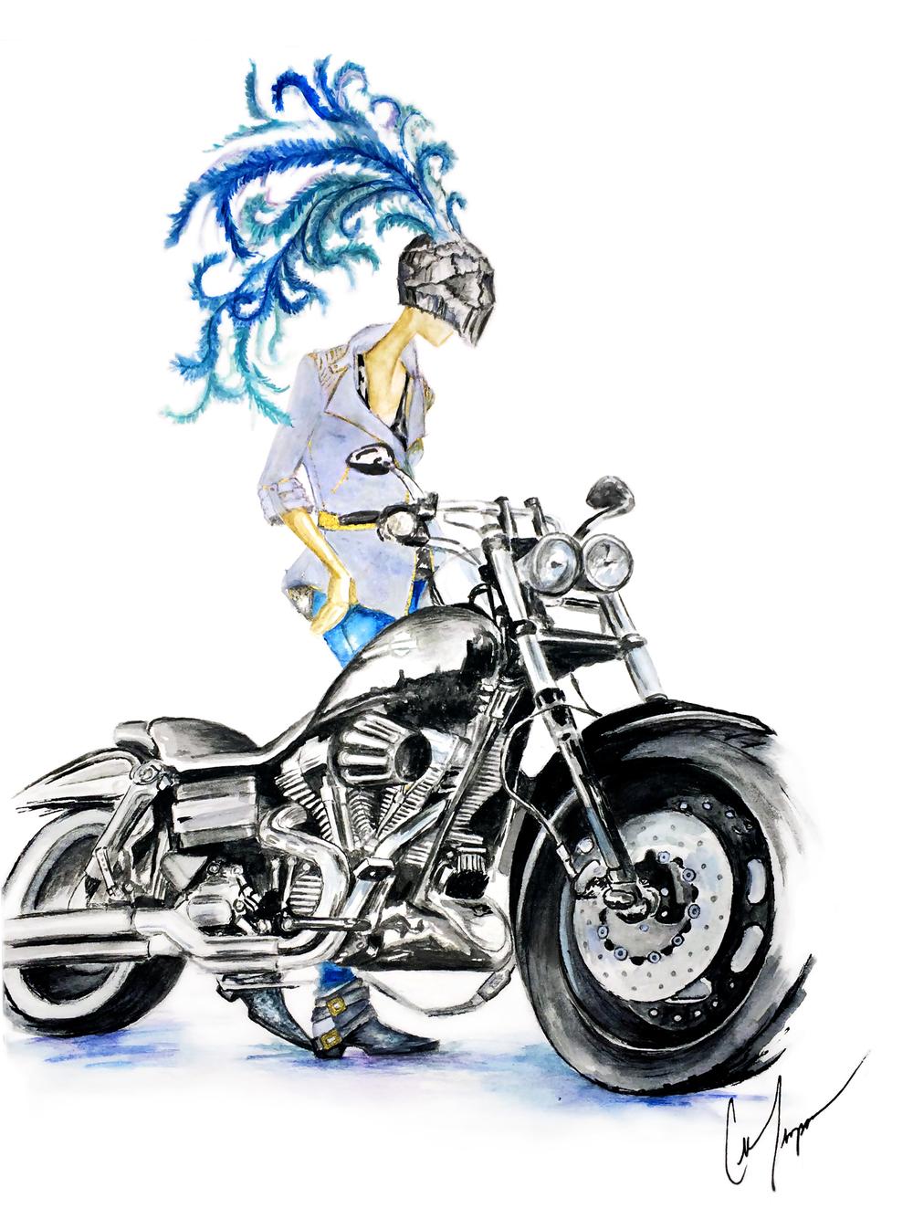 biker chick9x12new.jpg