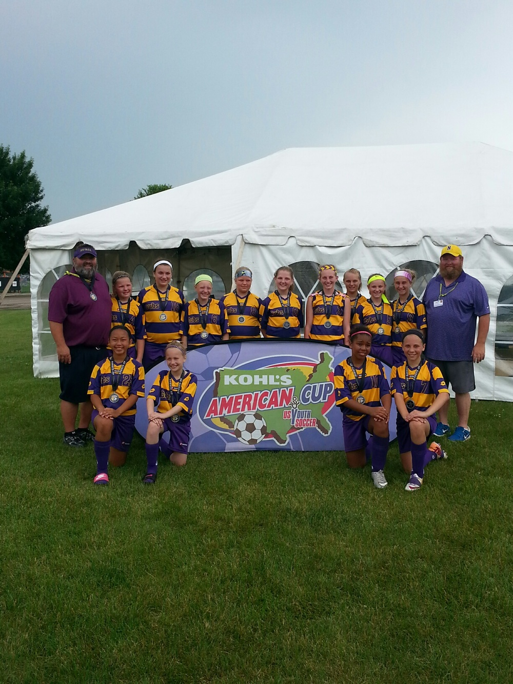 U11 Runners-up Nevada Purple Strikers