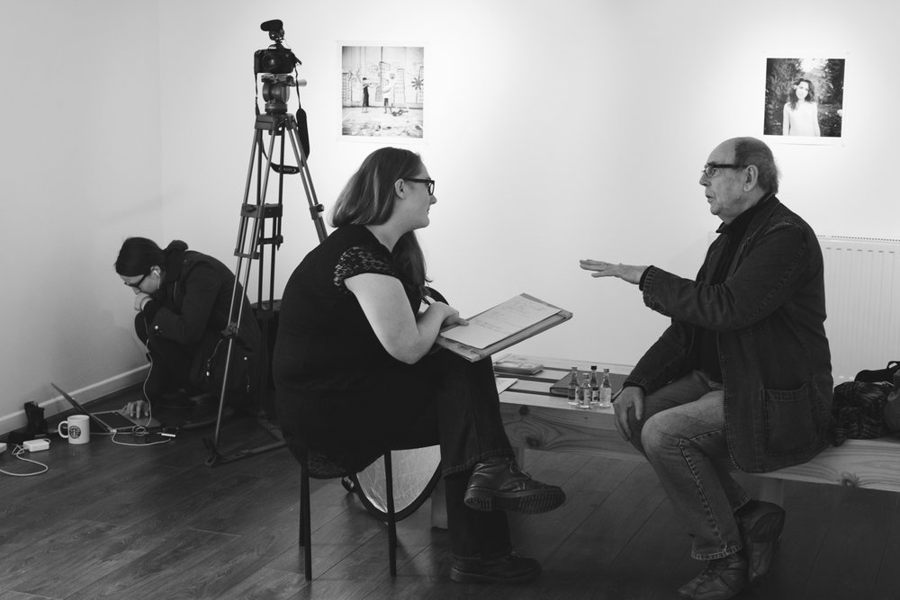 David Hurn talks with Claire Kern at Third Floor Gallery, Cardiff.
