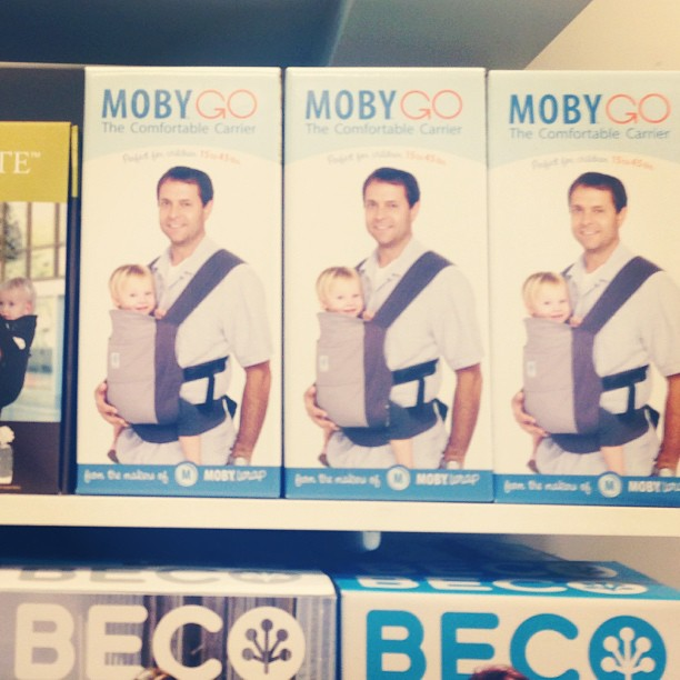 The Moby Go just arrived! New soft structured baby carrier available at Metro Minis (at Metro Minis)