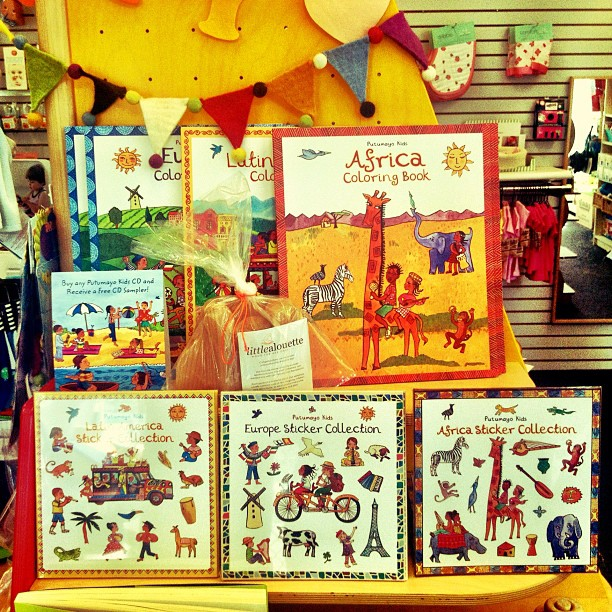 Africa, Latin and Europe Sticker Books (Taken with  Instagram )