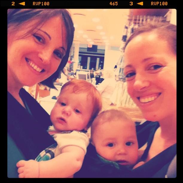 mightymarce: #babywearing buddies go shopping! @catbirdbaby @boba (Taken with instagram)