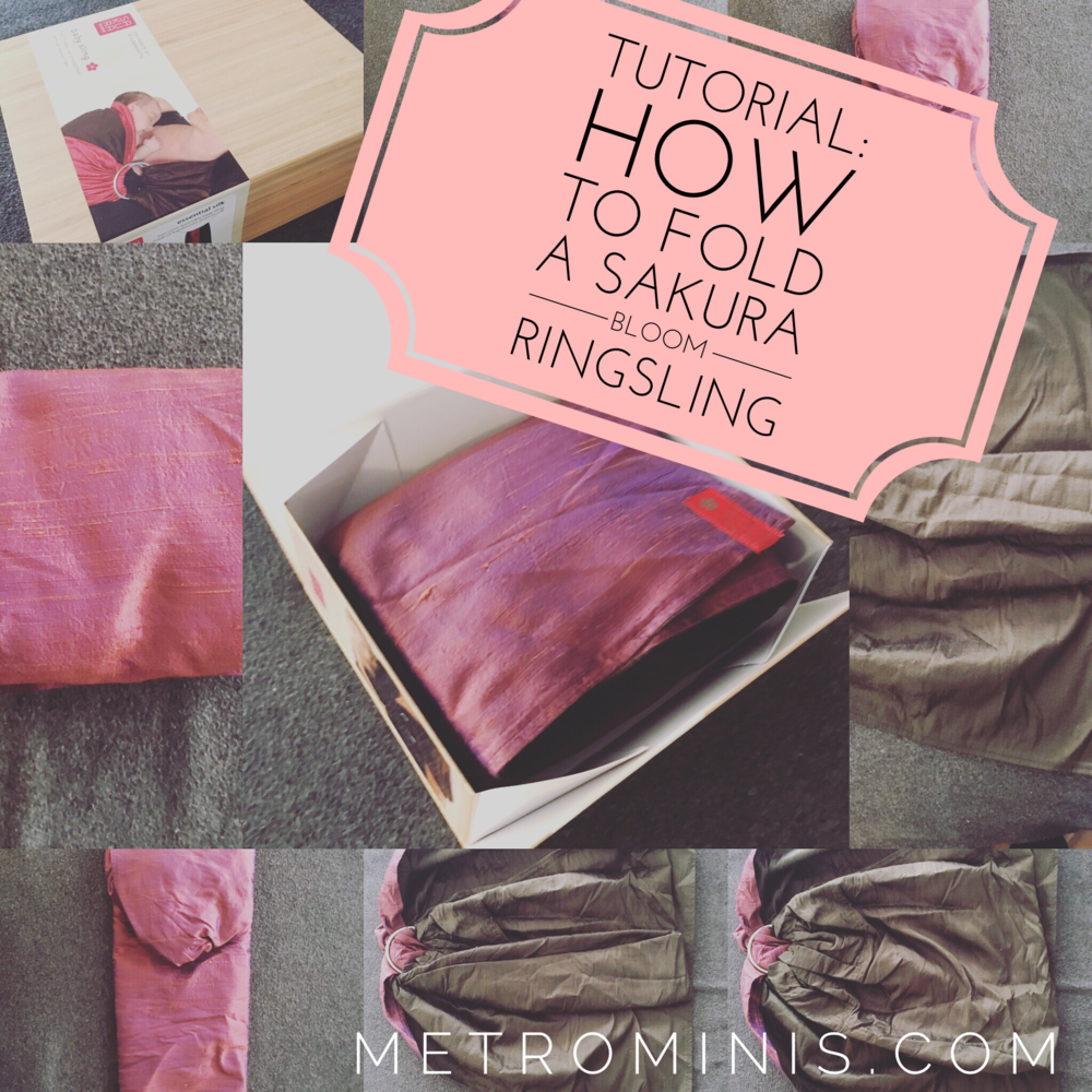 Ever wonder how to get your sakura bloom ring sling back in the pretty box?
