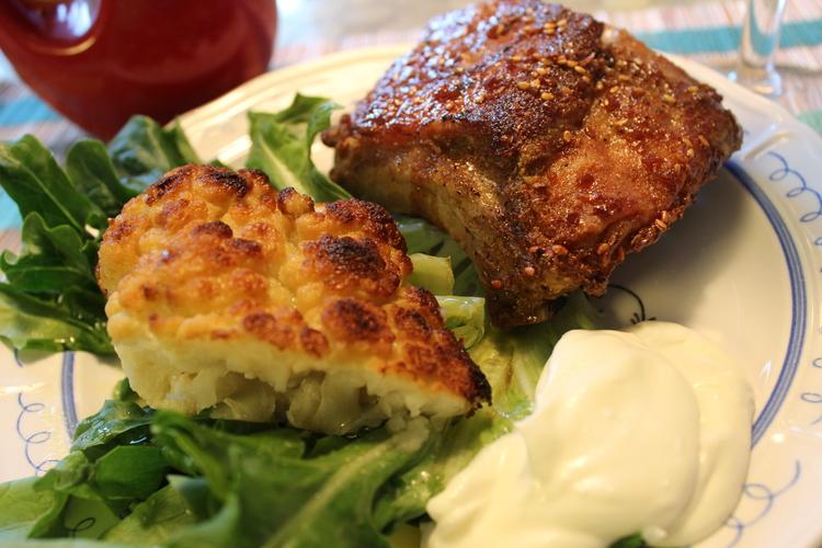 Whole+Roasted+Cauliflower+with+Whipped+Goat+Cheese Whole Roasted Cauliflower with Whipped Goat Cheese