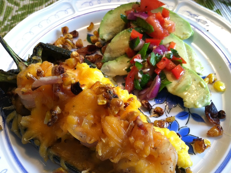 Poblano+Pepper+Stuffed+with+Eggs%2C+Shrimp+and+Bacon Poblano Pepper Stuffed with Eggs, Shrimp and Bacon