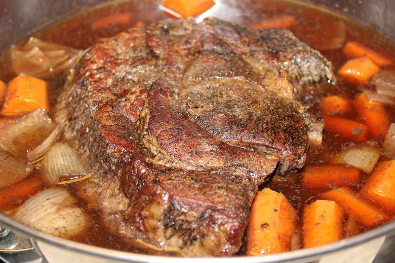 Finish+Beef+Bourguignon Lighter Beef Bourguignon with Cheesy Polenta