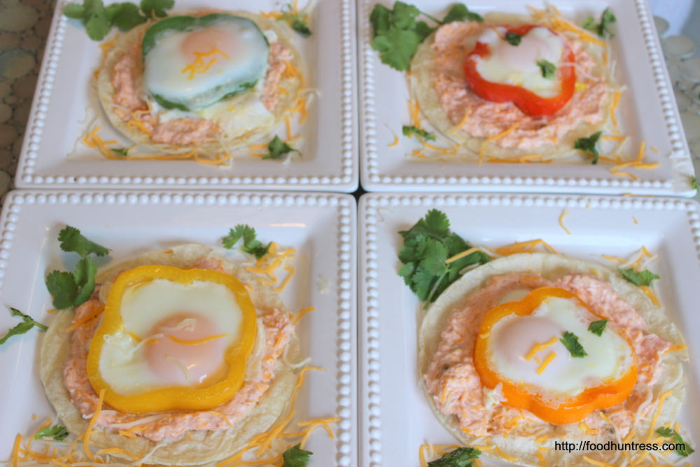 Eggs+Tostada+with+Salsa+Cream+Sauce Egg Tostada with Salsa Cream Sauce