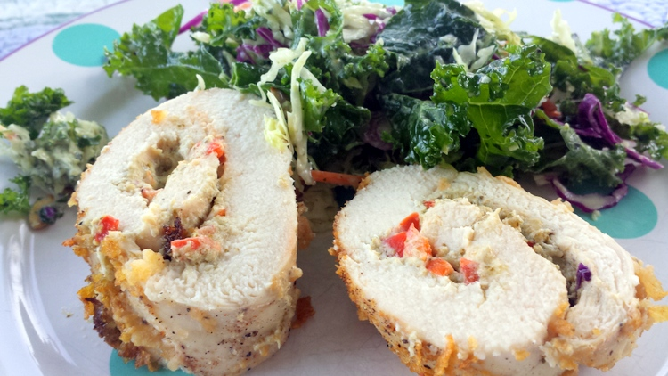 Pesto+Stuffed+Chicken+Roll Pesto Stuffed Chicken Roll