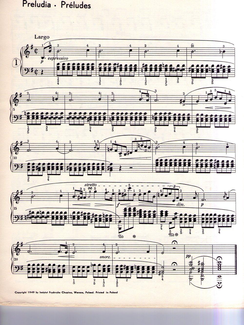 Pr lude en mi mineur f chopin piano tutoriel elpiano - Comment choisir un piano ...