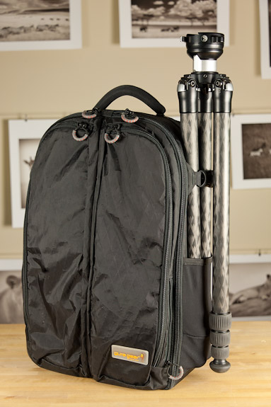 Gura Gear Kiboko 30L bag with RRS TVC-24L tripod