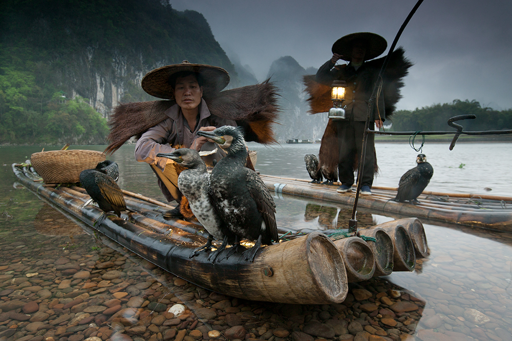 Night fishermen, Li River, Guangxi, China 16-35mm lens (for 23mm), f/8 for 1/3 sec., ISO 400