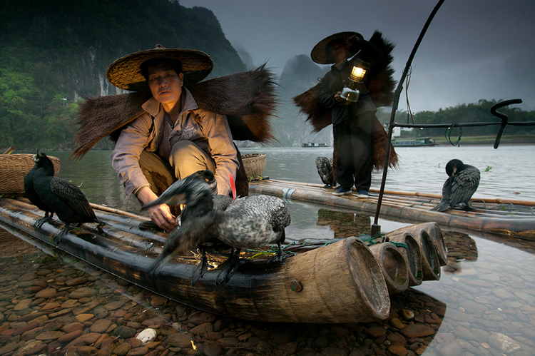 Night fisherman, Li River, Guangxi, China 16-35mm lens (for 23mm), f/8 for 1/5 sec., ISO 400