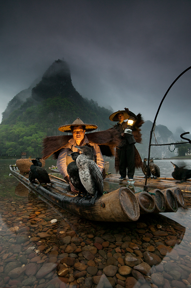 Night fishermen, Li River, Guangxi, China 16-35mm lens (for 17mm), f/8 for 1/3 sec., ISO 400