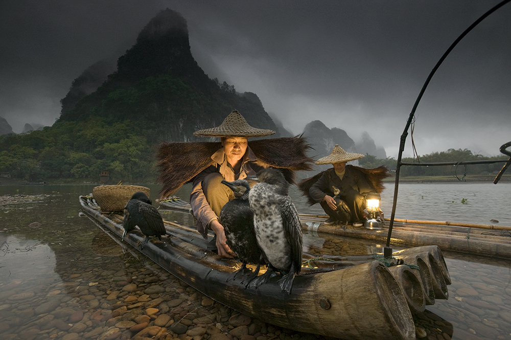 The Night Fishermen, Li River, Guangxi, China 16-35mm lens (for 16mm), f/8 for 1/3 sec., ISO 400