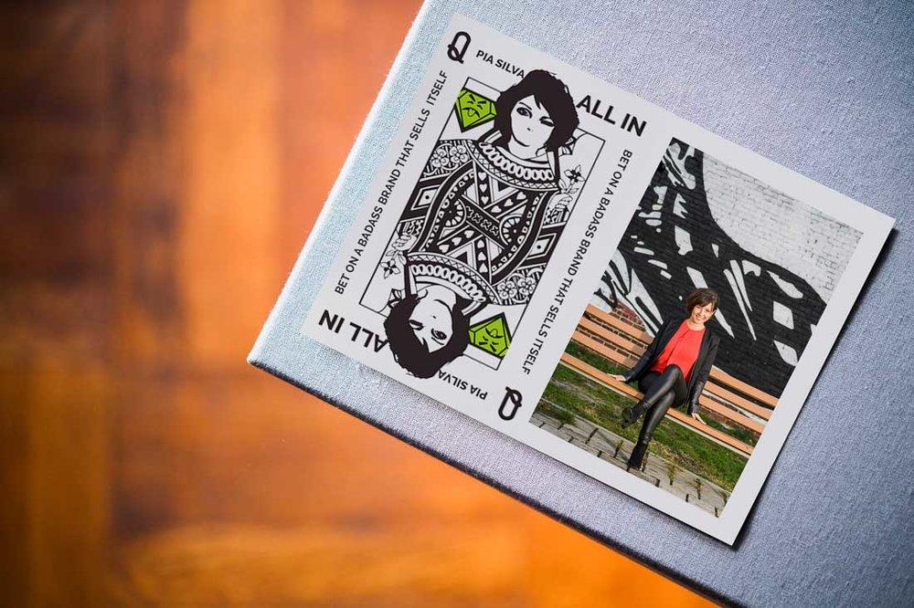 Personal Branding Expert Pia Silva printed promotional materials