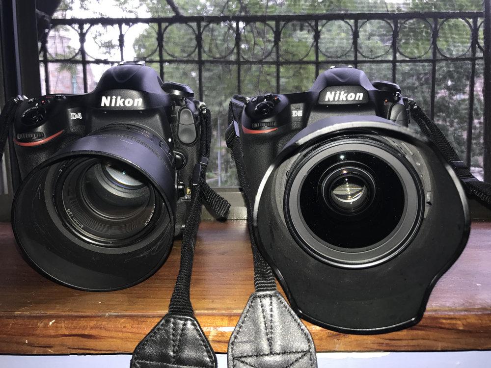Nikon cameras D4 and D5