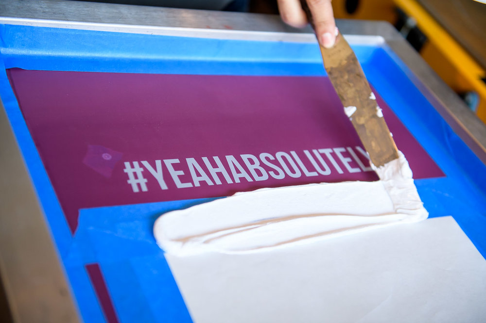 NYC branded lifestyle portraits #yeahabsolutely adding paint to screen