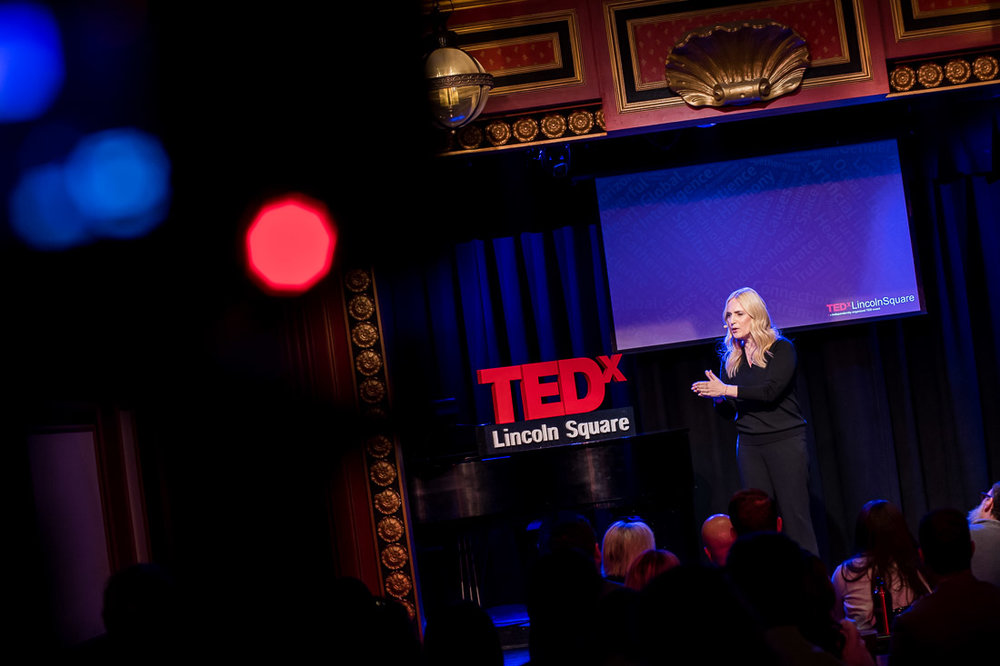 NYC branded lifestyle portrait TEDxLincolnSquare Lolly Daskal preaching