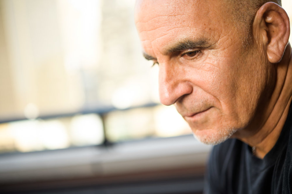 NYC Branded Lifestyle Portrait SpeakerAuthor Thought LEader Ted Rubin pensive stare