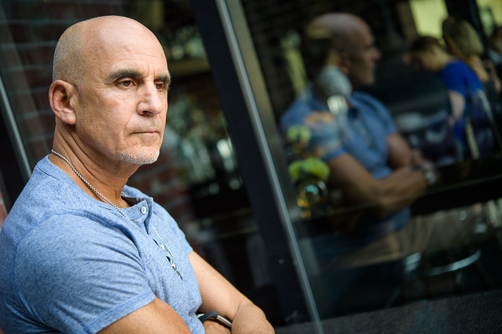 NYC Branded Lifestyle Portrait SpeakerAuthor Thought LEader Ted Rubin looking off