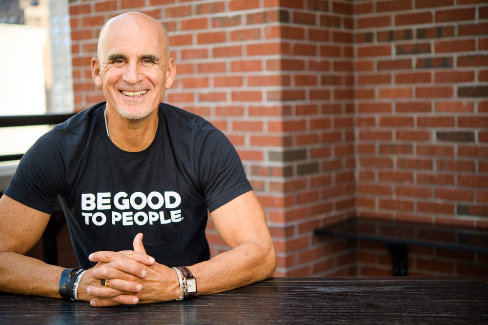 NYC Branded Lifestyle Portrait SpeakerAuthor Thought LEader Ted Rubin be good to people