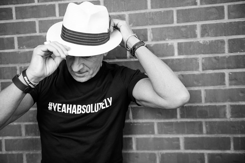 NYC Branded Lifestyle Portrait SpeakerAuthor Thought LEader Ted Rubin #yeahabsolutely tee