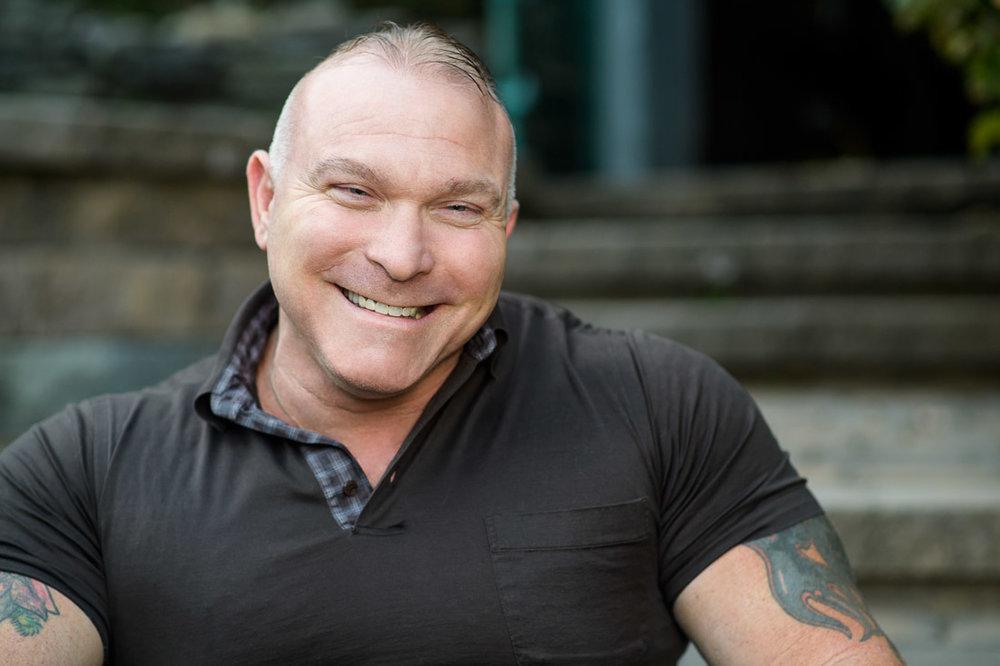 NYC Branded Lifestyle Portrait Angelwatch Dave Vitalli headshot big smile