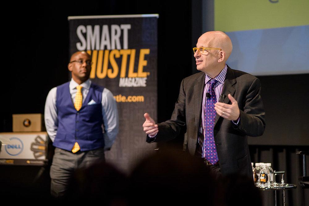 Branded Lifestyle Portrait Seth Godin Smarthustle Conference with ramon ray