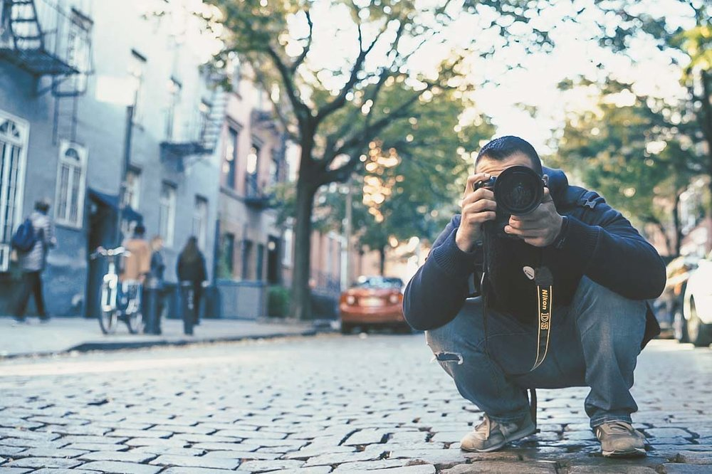 NYC Branded Lifestyle Portrait - DeMato in street shooting.JPG