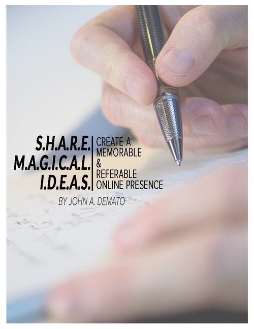 DeMato Productions Share Magical Ideas Ebook Cover