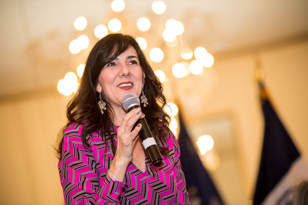 NYC Branded Lifestyle Portrait - speaker Christine Cashen speaking at NSA NYC meeting