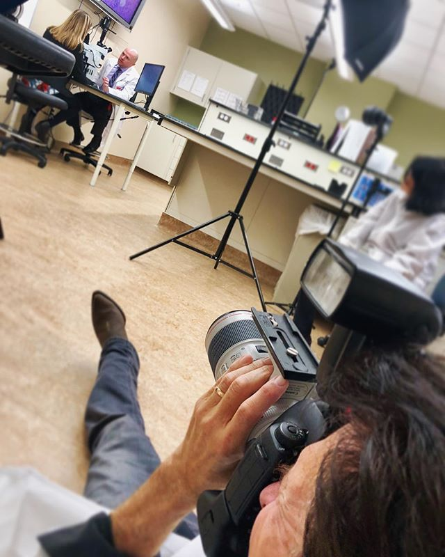 Sometimes, getting the perfect shot means a different angle... @cap_pathologists @utmbhealth #onlocation #professionalphotographer #onset #bts #medical #marketing #galveston #texas