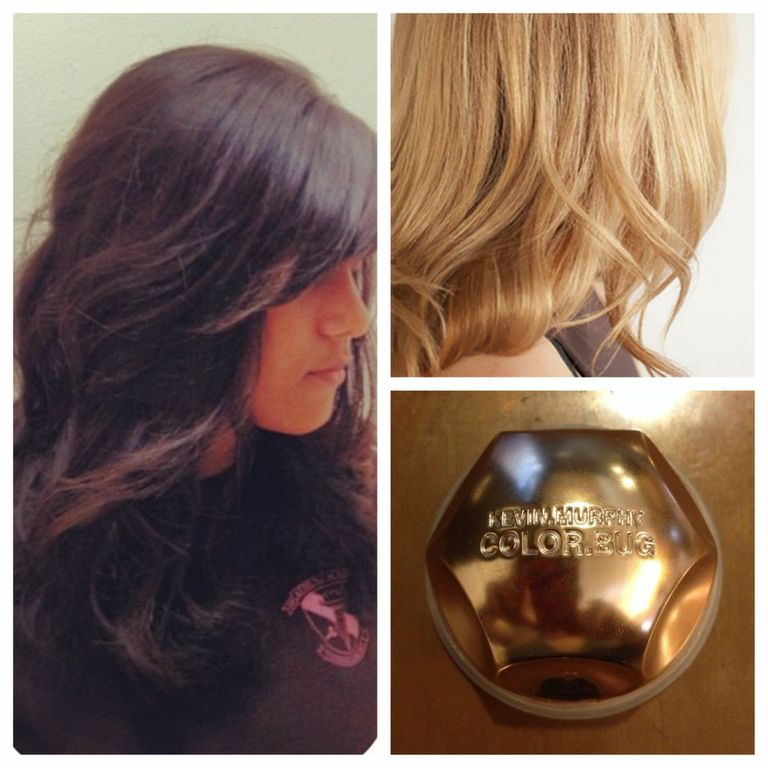 A beautiful touch of shimmer for blondes & brunettes!