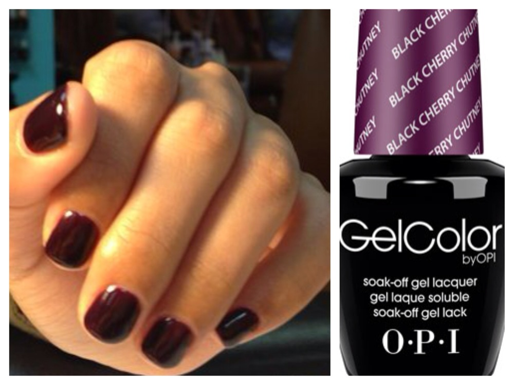 A deep, vampy color like OPI's Black Cherry Chutney is perfect for Fall.