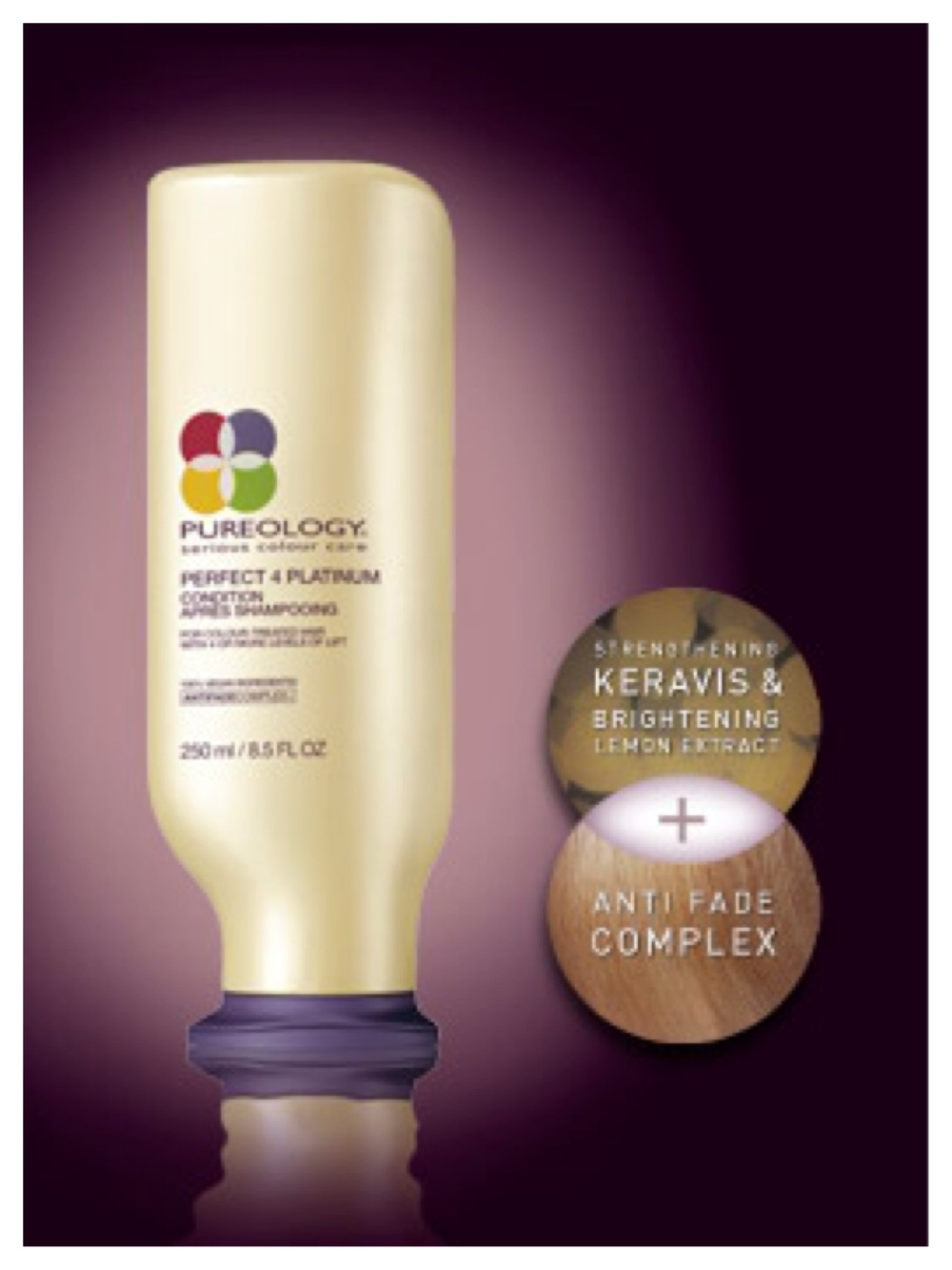Pureology Perfect 4 Platinum Condition keeps my platinum locks it top shape.