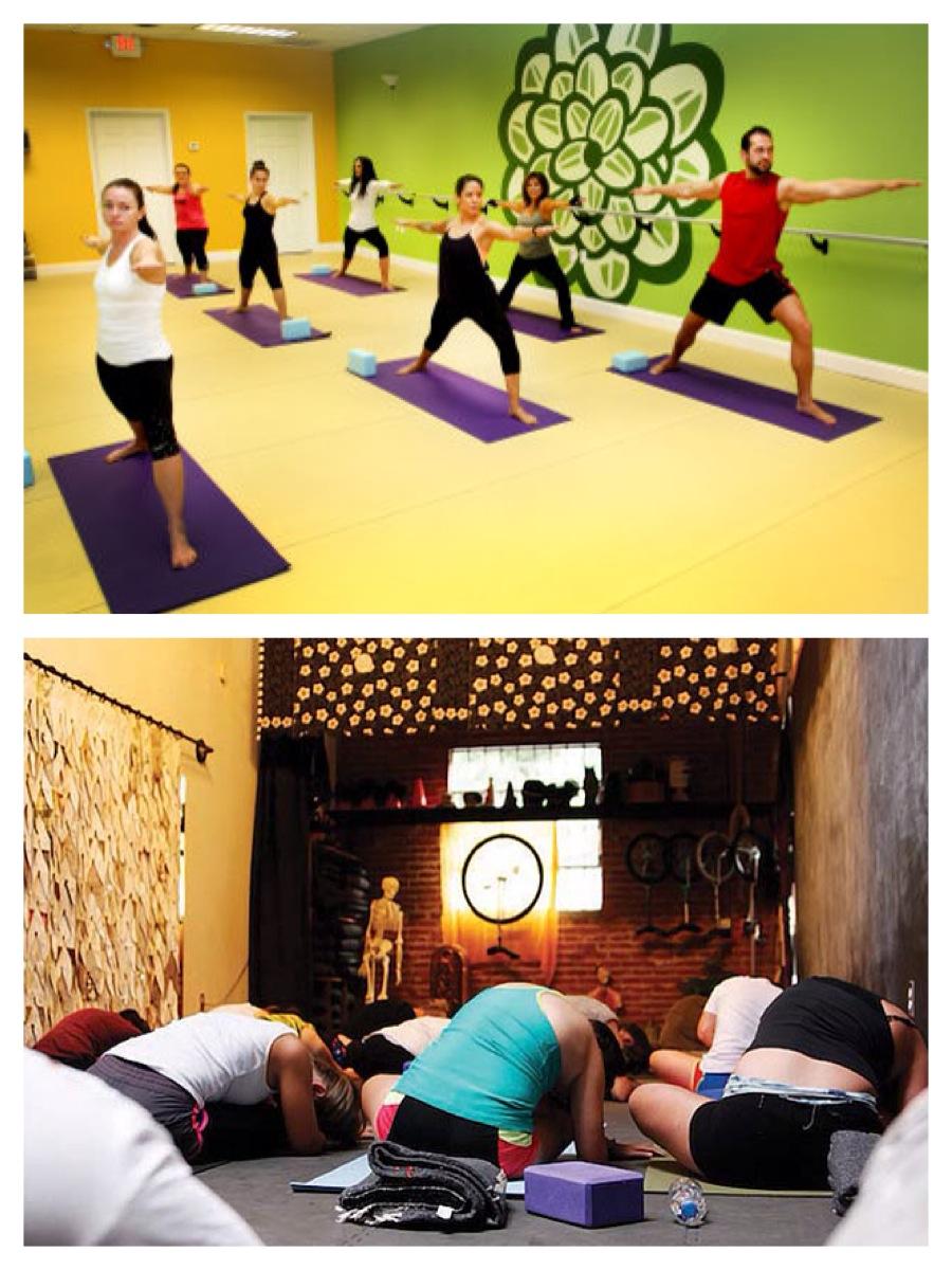Yoga at Om Studio & Rubber Soul keeps me centered.